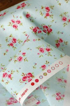 Japanese Fabric Cotton Shabby Chic Rose Half Yard by cottonblue, $8.50