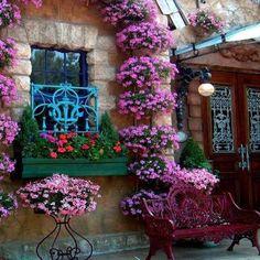 A lovely restaurant entrance