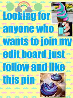 Hey guys if you do editing please follow me so I can add you to my editing board new assignments each weeks also contest plz follow and like or comment on this picture so I know to add you thanks