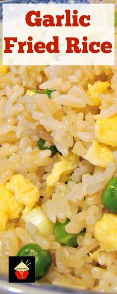 Make some delicious Garlic Fried Rice! I make this often, it's quick, easy and of course super tasty!