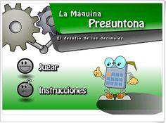 La máquina preguntona (Números decimales) Decimal, Online Gratis, Maths, Maths Area, Learning Numbers, Fractions