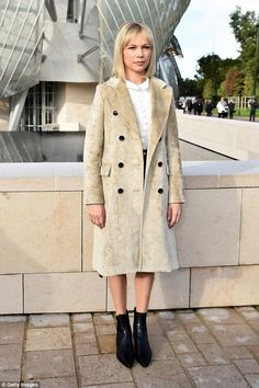Front row VIP: Michelle Williams looked chic as she arrived at the Louis Vuitton Foundatio...