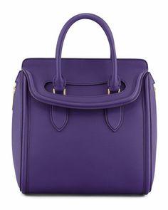 Heroine Medium Flap-Top Tote Bag, Purple by Alexander McQueen at Neiman Marcus.