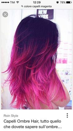 Hair ombre pink purple best