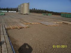 Timber Oil Field Tank Support