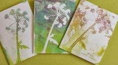 Through My Window: Gelli printing. The ones with the off white background are the 'ghost' prints.