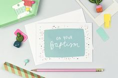 On Your Baptism  Christian Card  Biblical Card  A6 Greeting