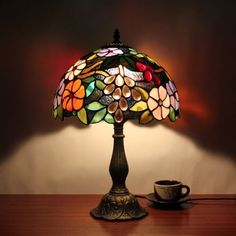 Lamp: 3 Contemporary Tiffany Style Stained Glass Tea Lite Small Lamp Shades from The Tiffany Lamp Shades and The Abstract Pattern
