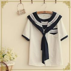 Buy 'Fairyland – Sailor Collar Shirt' with Free International Shipping at YesStyle.com. Browse and shop for thousands of Asian fashion items from China and more!