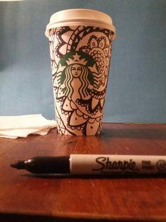 Decora tu vaso de STARBUCKS con tu SHARPIE   My fácil y lindo