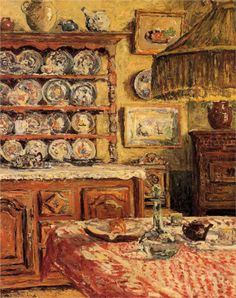Maxime Maufra, Dining Room After Lunch, 1914
