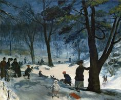 Central Park in Winter  William James Glackens - circa 1905