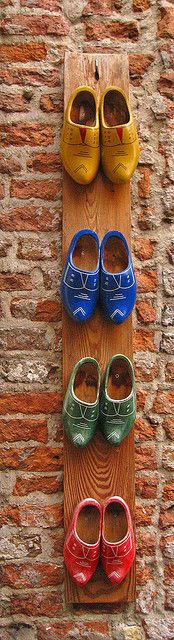 This would be a great thing to make with clogs we bring home.  Would make an adorable planter outside.
