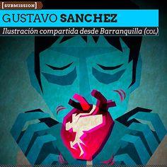 Ilustración. Heart de GUSTAVO SANCHEZ. Ilustración compartida desde Barranquilla (COLOMBIA). http://www.colectivobicicleta.com/2013/04/Ilustracion-de-GUSTAVO-SANCHEZ.html