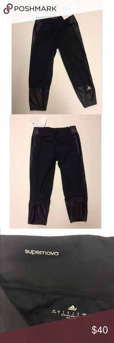 Adidas Capri Workout Pant Brand new with tags size small Adidas Supernova crop pant. Color: Black. Never been worn, climacool/fitted fabric. Polyester and Spandex material. Runs slightly small. Adidas Pants Ankle & Cropped