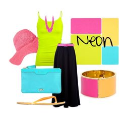 Neon, created by anne-ratna on Polyvore