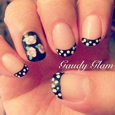 black and white polka dots nail tips - 30  Adorable Polka Dots Nail Designs  <3 <3