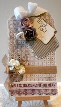 Thank You tag card - Scrapbook.com