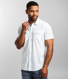 BKE Pinstriped Standard Shirt - Men's Shirts in Aqua Blue | Buckle Summer Family Portraits, Prevent Wrinkles, Men's Shirts, Aqua Blue, Men Casual, Mens Tops, Products, Men Shirts, Summer Family Photos