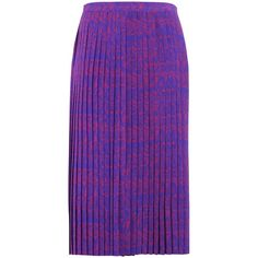 Laura Strambi 3/4 Length Skirt ($475) ❤ liked on Polyvore featuring skirts, purple, cosmic skirt, galaxy skirts, long purple skirt, galaxy maxi skirt and purple maxi skirt
