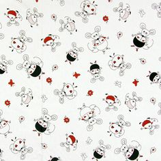 Smart Animals 3 - Cotton - offwhite