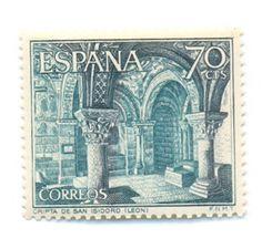 Sociedad Filatélica de Madrid: Pinturas del Panteón de San Isidoro de León. La Capilla Sixtina del Románico Español