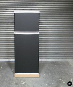 Fridge Wrap, Chalkboard, Matte Black Finish, Furniture Wrap