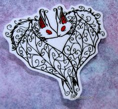 Kissing Gothic Vampire Bats Iron On Embroidery Patch by MTthreadz, $8.00