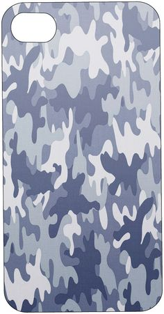BLUE CAMOUFLAGE CAMO Phone Case I Phone or by hollyannasdesigns, $19.99