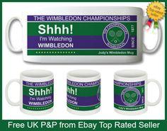 SHHH! I'M WATCHING WIMBLEDON PERSONALISED 10oz CERAMIC MUG NOVELTY GIFT IDEA!  | eBay