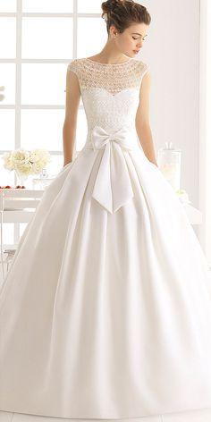 Simple Wedding Dresses For Elegant Brides ❤ See more: http://www.weddingforward.com/simple-wedding-dresses/ #weddings