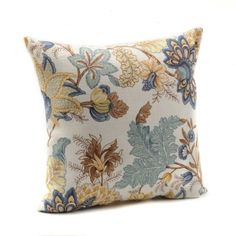 "Spa Blue Morgonton Pillow   Kirkland's - 18""x18"" - $20"