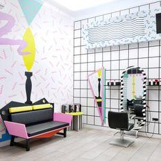 a Memphis inspired salon | Ljubljana, Slovenia