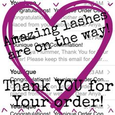 Thank you for your order! Enjoy those 3D lashes! Tanyalt16@gmail.com