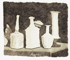 trctts01:    Morandi Giorgio Still Life with White Objects on a Dark Background, 1931 (via Atlante dell'arte italiana)