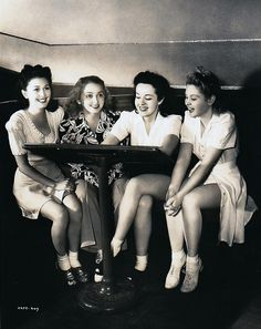 Elaine Morey, Dorothy Darrell, Peggy Moran, and Jeanne Kelly  …cute as lace pants in 1941