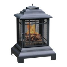 Outdoor Pagoda Fireplace in Gray