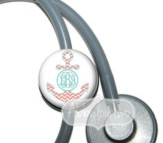 Anchors Stethoscope ID Tag  Badge Reel #idtag #badgereel #idholder #abbyloutwo #name #badgeholder #stethoscopeidtag #stethoscope #initials #monogrammed #personalized