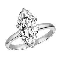 3.36CT,18K SOL RING MARQUISE