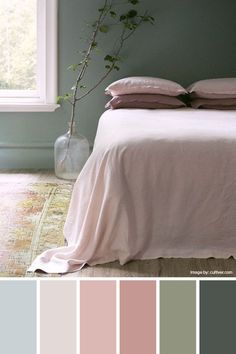 Soft pastels add muted shades bring calming vibes to your space. : Soft pastels add muted shades bring calming vibes to your space. Dusty Pink Bedroom, Green Bedroom Walls, Green Bedroom Decor, Sage Green Bedroom, Sage Green Walls, Living Room Green, Green Rooms, Pink Room, Green Bedroom Colors