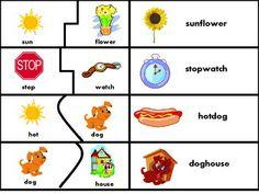 COMPOUND WORDS PUZZLE & MATCH - TeachersPayTeachers.com
