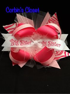 Big Sister Bow  Different color ribbon available upon request