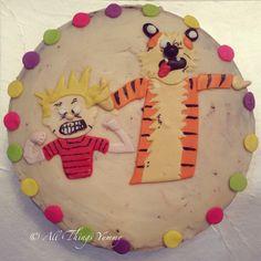 Love these two!! Calvin and Hobbes!! #Calvin #hobbes #calvinandhobbes #cartoon #comic #polkadots #liqourlove #cake #cartooncake #funny #funnyfaces #atyummy #customisedcake #buttercream #baileys #designercake