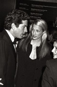 John F. Kennedy Jr. and his new bride Carolyn at the Whitney Museum, 1996