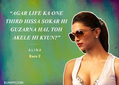 24 Times Bollywood Dialogues Really Seemed well and good Bollywood Quotes, Bollywood Posters, Race 2 Movie, Movie Dialogues, I Have No One, Genius Quotes, Minimal Poster, Mp3 Song Download, Deepika Padukone