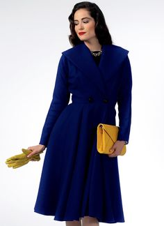 Butterick Sewing Pattern Misses' Shawl Collar Coat Vintage Patterns, Sewing Patterns, Fashion Sewing, Fantastic Beasts, Winter Collection, Couture, Shirt Dress, Cosplay Ideas, My Style