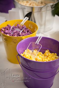 Cute in buckets for a popcorn themed party or Halloween (: