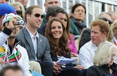 Kate Middleton Photos Photos - Prince William, Duke of Cambridge, Catherine, Duchess of Cambridge and Prince Harry look on during the Show Jumping Eventing Equestrian on Day 4 of the London 2012 Olympic Games at Greenwich Park on July 31, 2012 in London, England. - Olympics Day 4 - Equestrian