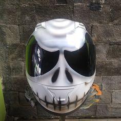 Jack Skellington The Nightmare Before Christmas Helmet repaint For Biker DOT Approved by CelloShancangHelmet on Etsy