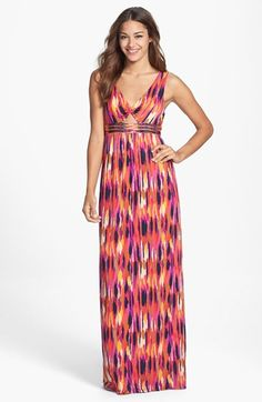 Trina Turk 'Margery' Ikat Print Maxi Dress available at #Nordstrom.....for Kdiamond.....b♡